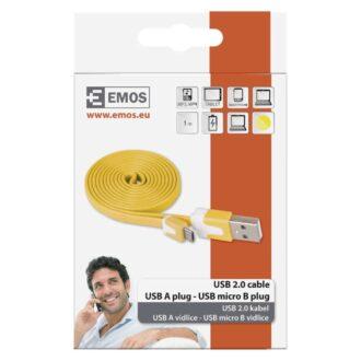 SM7001Y КАБЕЛ USB/USB micro 1m жьлт EMOS 2